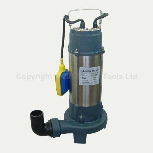 Pompe à Eau Submersible pour Eaux Usées Déchets Saleté 151615 1300w avec Déchiqueteur Broyeur