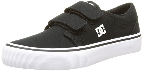 DC Shoes Trase V B, Sneaker Bambino Nero (Black/White)