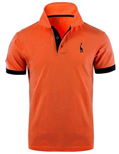 Glestore Homme Polo Golf Manche Courte Couleur Contrasté...