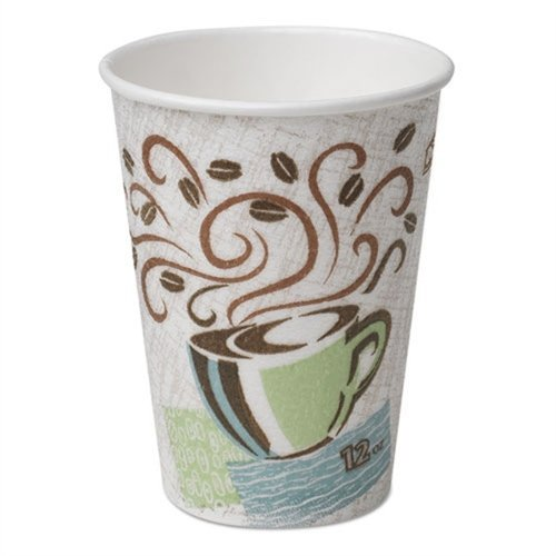 Dixie Hot Cups, Paper, 12oz, Coffee Dreams Design, 50/Pack by Dixie Dream Cup