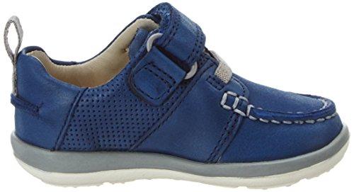 Clarks Softlyboat Fst, Chaussures Marche Bébé Garçon Bleu (Blue)
