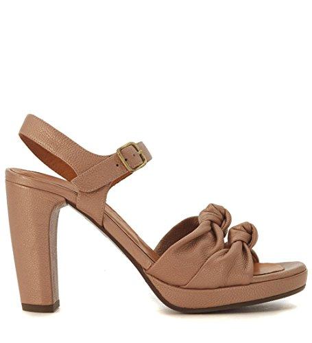 Sandalo con tacco Chie Mihara Champan in pelle nude Beige