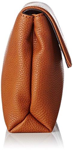 Guess Damen Tulip Umhängetaschen, 4.5 x 15 x 25 cm Braun (Cognac)