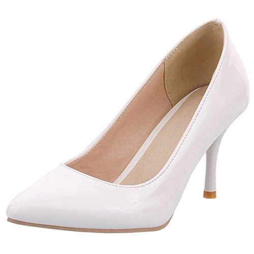 COOLCEPT Mode-Event Damen Basic Simple Pointed Toe Stiletto Heels Work Pumps
