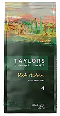 Taylors Of Harrogate Rich Italian Ground Coffee 227 g from Taylors of Harrogate