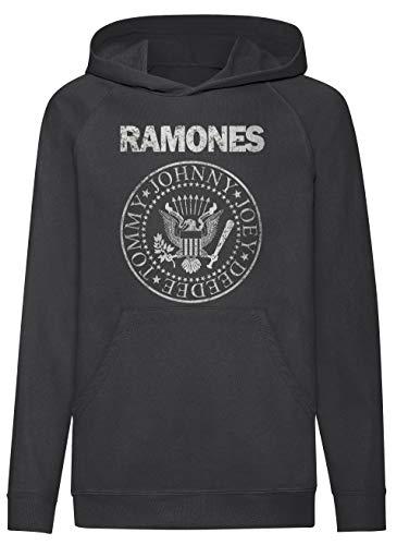 LaMAGLIERIA Sudadera niño Ramones Grunge Texture - Sudadera con...