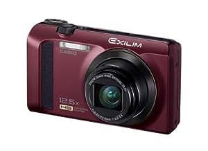 Casio Exilim EX-ZR300 Digitalkamera (16,1 Megapixel, 7,6 cm (3 Zoll) Display, 25-fach Multi SR Zoom, 24mm Weitwinkel, HS-Nachtaufnahme, HDR) bordeaux