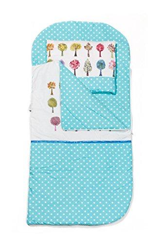 Kempkids set di sacco a pelo + cuscino per bambini in età prescolare stuoia del nap sacchetto di sonno taglie: sacco a pelo 115 x 70cm guanciale 35 x 70 cm alberi