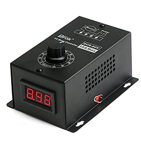 DROK® 6-90V DC Motor Speed Controller PWM Module, 1000W Positive Inversion Electric Motor with Speed Control, Universal PWM Controller Speed Governor with IC Chip