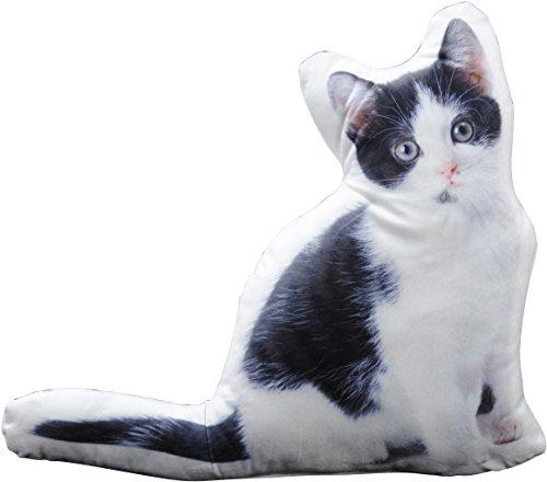 Cojín Cojín (Adorno Bonito naturgetreues Gatos en forma de gato con