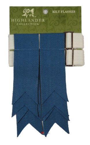 Wool Kilt Flashes Ancient Blue