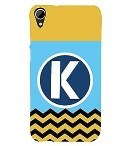 Fiobs Designer Phone Back Case Cover HTC Desire 828 Dual Sim ( K Alphabet Colorful Pattern Design )