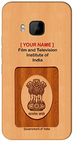 Aakrti Mobile Back cover with your Dept: Film and Television Institute of India.your Government ID in curious Way With