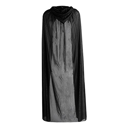 Kostüm Brave Damen - Brave Pioneer Damen Schwarz Umhang Halloween Satin Cape Kaputze Karneval Kostüm Cosplay Mantel Rollspielen Vampir Hexe Für Erwachsene (schwarz)