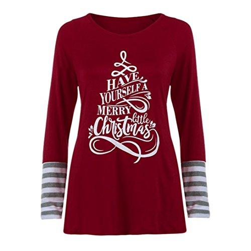 HKFV -  Gilet sportivo  - Natale - Donna Red M