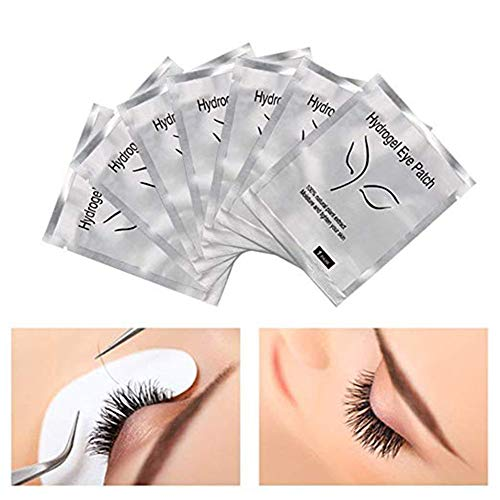 Under Eye Gel Pads 50 Pairs,Comfy and Cool Lint Free Eye Lash Extension Eye Gel Patches for Eyelash Extensions