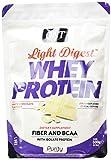 QNT Proteine del Siero di Latte con Fibre, Bcaa e Whey Isolate Gusto Cioccolato Bianco - 0.5 kg
