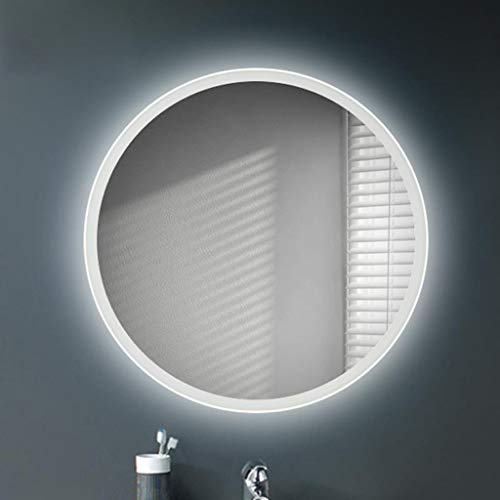 Smart Spiegel Badezimmer Wohnzimmer Schlafzimmer Dekorative Spiegel Rahmenlose Wandbehang Anti-fog LED Licht Spiegel Kosmetikspiegel Runde Ganzkörper Kosmetikspiegel ( Color : A , Size : 70cm ) (Rahmenlose Badezimmer Spiegel)