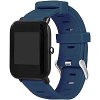SO-buts Huami Amazfit Bip Armband Silikon,Weiches Monochrom-Zubehörband, Sport Ersetzen Armband,Für Huami Amazfit Bip Youth Watch