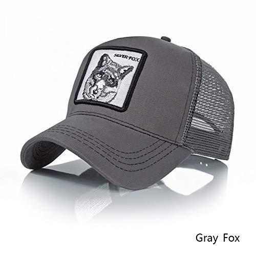 YPORE Fashion Hat for Men Summer Mesh Baseball Cap Women Animal Embroidery Hip Hop Cap Boys Travel Sports Sunshade Gift -