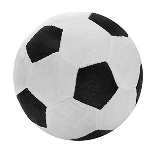 juqilu Plüsch fußball Spielzeug für draußen,20 cm, schwarz und weiß/rot und weiß, Weicher Fußball Plüschtier für Baby, Kinder, Fußball Spielzeug Geschenk für Kinder (Fußball Plüsch)