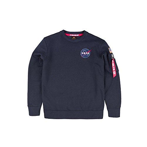 Alpha Industries Herren Sweatshirt Space Shuttle, Größe:XS, Farbe:rep.Blue Logo Military Sweatshirt