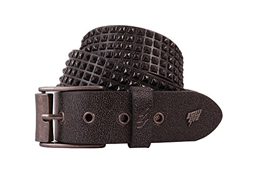 Lowlife of London - Cinturón para hombre, talla L, color Negro/Word Stud