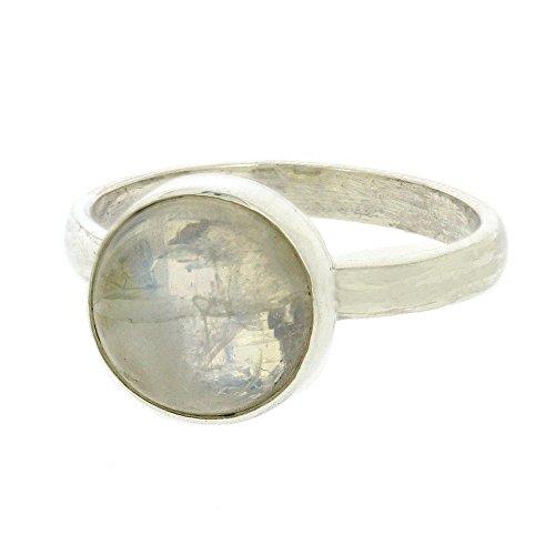 Nova Silver ns/nsr27/m - Anillo de mujer de plata de ley con piedras lunares (talla: 14)