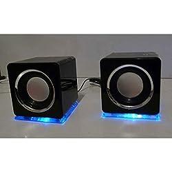 Haut-parleurs cubes design USB Noir