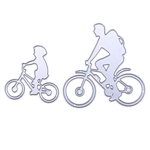 Ruda Stanzschablone Radfahren Metall DIY Scrapbooking Prägung Papier Karte Dekoration