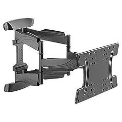 RICOO TV Wandhalterung Schwenkbar & Neigbar S3042 für OLED Bildschirme mit 32-65 Zoll (ca. 81-165cm) Wand-Halter Fernseh-Halterung mit max VESA-Norm 400x200 Ultra Slim Fernseher-Aufhängung in Schwarz