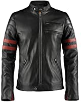 Hybrid Mens Leather Jacket Made in Italy