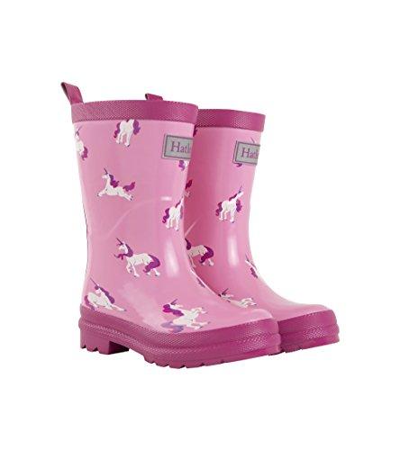 Hatley Mädchen Rain Boots Gummistiefel, Pink (Majestic Unicorns 650), 22 EU