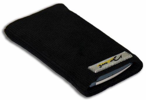 Norrun Handytasche / Handyhülle # Modell Konne # ersetzt die Handy-Tasche von Hersteller / Modell Samsung SGH-Z710 # maßgeschneidert # mit einseitig eingenähtem Strahlenschutz gegen Elektro-Smog # Mikrofasereinlage # Made in Germany
