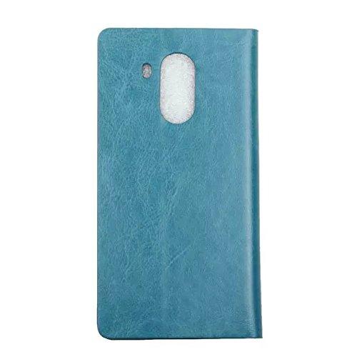 HUAWEI Case Cover Crystal Beschaffenheits-Muster-synthetischer PU-lederner Fall-horizontaler Schlag-Standplatz-Fall mit Karten-Schlitz-Normallack-Fall für Huawei Mate 8 ( Color : Red , Size : Huawei M Blue