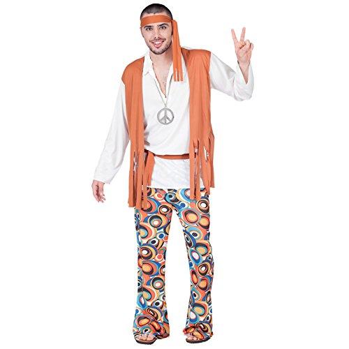 fyasa 701860-t04disfraz de hippie boy, grande