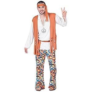 Fyasa 701860-T04 - Disfraz de hippie, para niño, grande