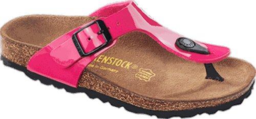 Birkenstock Gizeh Birko-Flor, Sandales Pink Patent