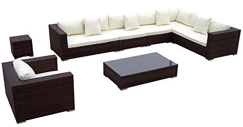 Baidani Gartenmöbel Sets 10c00009.00002 Designer Lounge Garnitur Blizzard,  XXL Sofa