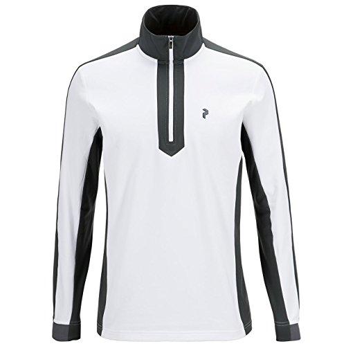 Herren Skiunterwäsche Peak Performance Ace Half Zip Funktionsshirt LS White