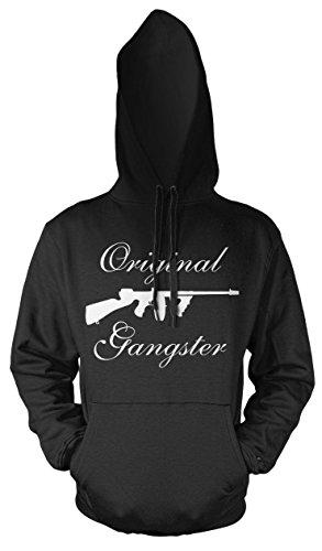 Gangster Männer und Herren Kapuzenpullover | Mafia Pate The Godfather Geschenk (4XL, Schwarz) (Kostüm De Tony Montana)