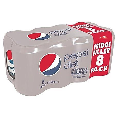 Pepsi Dieta 8X330ml Paquete de 2