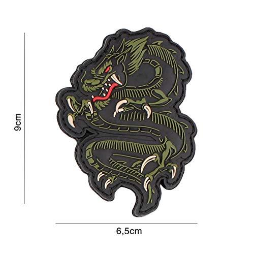 Tactical Attack Dragon grün #5089 Softair Sniper PVC Patch Logo Klett inkl gegenseite zum aufnähen Paintball Airsoft Abzeichen Fun Outdoor Freizeit