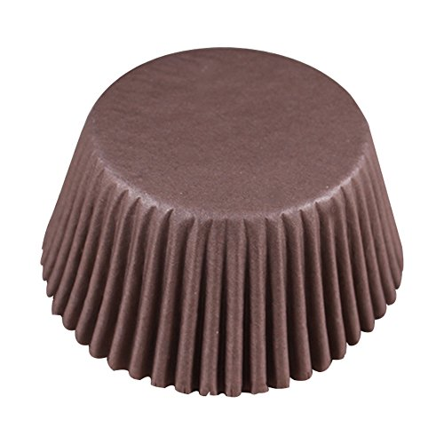 Jingyuu Paper per fai da te muffin pirottini per decorazione di nozze festa di compleanno, Carta, Brown, 5 * 3.2cm