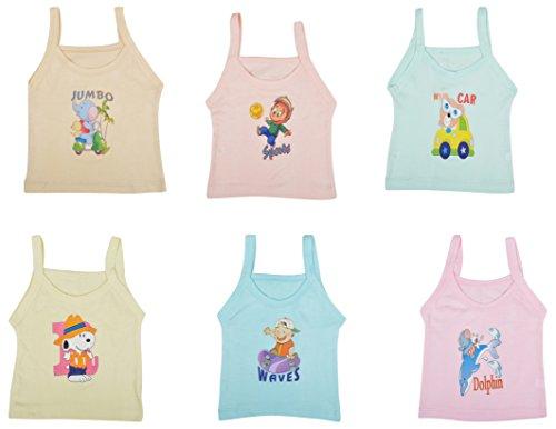 kuchipoo Girls' Regular Fit Cotton Slip (KUC-INN-916-2-3 Years_Multicolor)