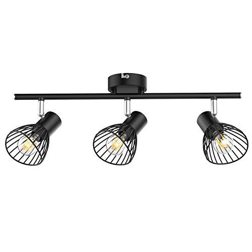 Preisvergleich Produktbild Veelicht LED Deckenleuchte Schwenkbar,  LED Deckenstrahler 3 flammig,  inkl. 3 x 4 W E14 LED Lampen,  400LM, Warmweiß,  LED Wohnzimmer-Lampe I Deckenstrahler I Wohnzimmer-Leuchte I Schlafzimmer-Leuchte I LED Deckenspot