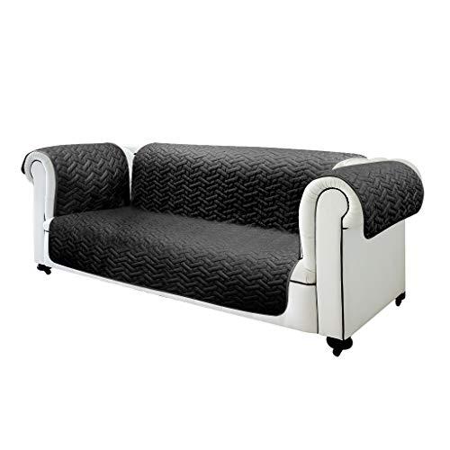 3-sitz-sofa-abdeckung (Sofa Abdeckung Individuell - 2 Sitze - 3 Sitze mit Dual Face Farbe (Schwarz / Grau oder Braun / Beige) (Schwarz/Grau, 3 Sitze))