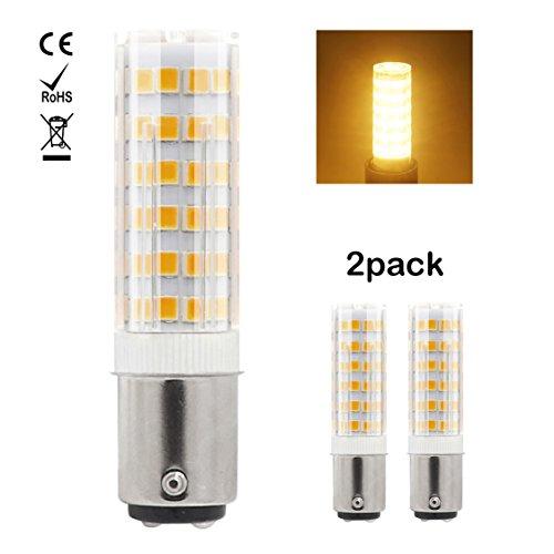 1819 Ba15d LED-Glühlampe 220V-240V 7W Warm Weiß 60W Halogen-Equivalent SBC Kleine Bajonett LED-Birnen für Nähmaschine / Appliance-Lampen (2-Packs)