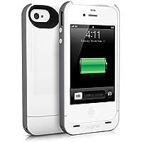 Mophie Juice Pack Plus Hardcase für Apple iPhone 4/4S weiß/grau