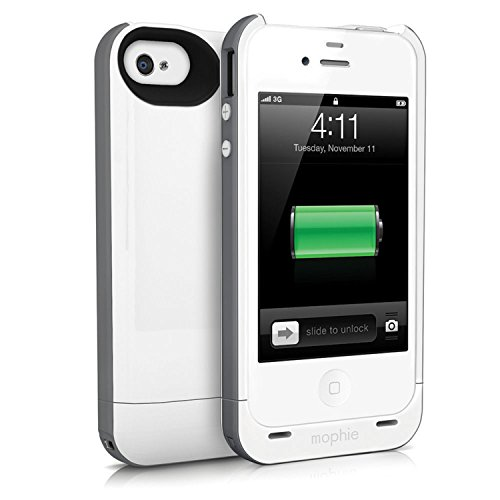 Mophie 1207_JPP-IP4-P-RED Coque avec rechargeable batterie pour iPhone 4/4S Rouge couleur blanche